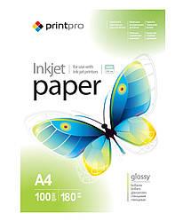 PrintPro глянцевая фотобумага 180гр, А4, 100 листов