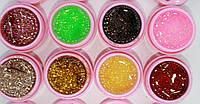 Набор цветных гелей для дизайна ногтей Coco 16 штук.