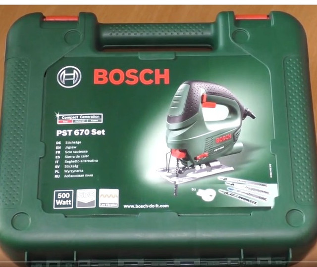 Лобзик Bosch PST 670 упаковка