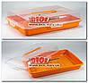 Тортовница прямоугольная пластиковая 41х27х10см ОРАНЖЕВЫЙ Алеана ALN-169057-2