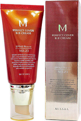 BB крем Missha M Perfect Cover BB Cream SPF42/PA+++ No.23 (50ml), фото 3
