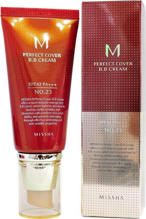 BB крем Missha M Perfect Cover BB Cream SPF42/PA+++ No.23 (50ml), оригинал, фото 2