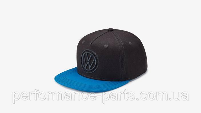 Бейсболка Volkswagen Baseball Cap, Flat Brim, Dark Grey/Blue 33d084300