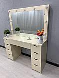 Стол визажиста с подсветкой V405 цвет крем, фото 4