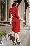 Платье-рубашка длины миди красное, фото 3