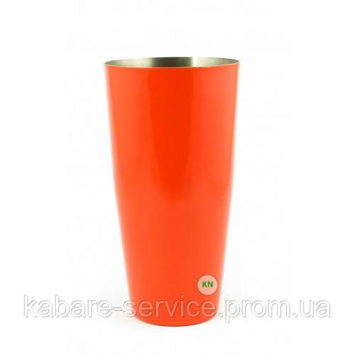 Стакан Шейкер, оранжевый, 700 мл, порошковое напыление
