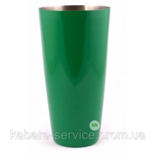 Стакан Шейкер, зеленый, 700 мл, порошковое напыление