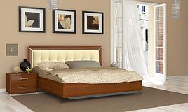 """Кровать с подъемным механизмом и мягким изголовьем """"Белла"""" MiroMark"""