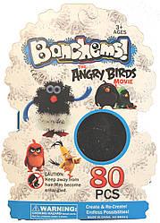 "Конструктор-липучка ""Bunchems"" Angry Birds Сине - белый"