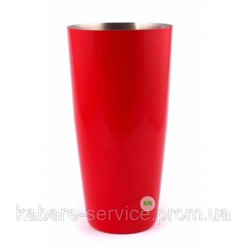 Стакан Шейкер, красный, 700 мл, порошковое напыление