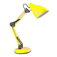 Настольна лампа дізайнерська 60W E27 LU-LN1-CONTE YELLOW жовта (основа метал) (12шт/ящ) TM LUMANO