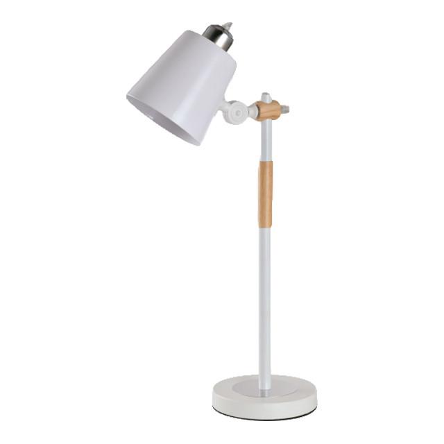 Настольная лампа белая AMATO WHITE Italian Natural Series 60W E27 IP20 TM LUMANO