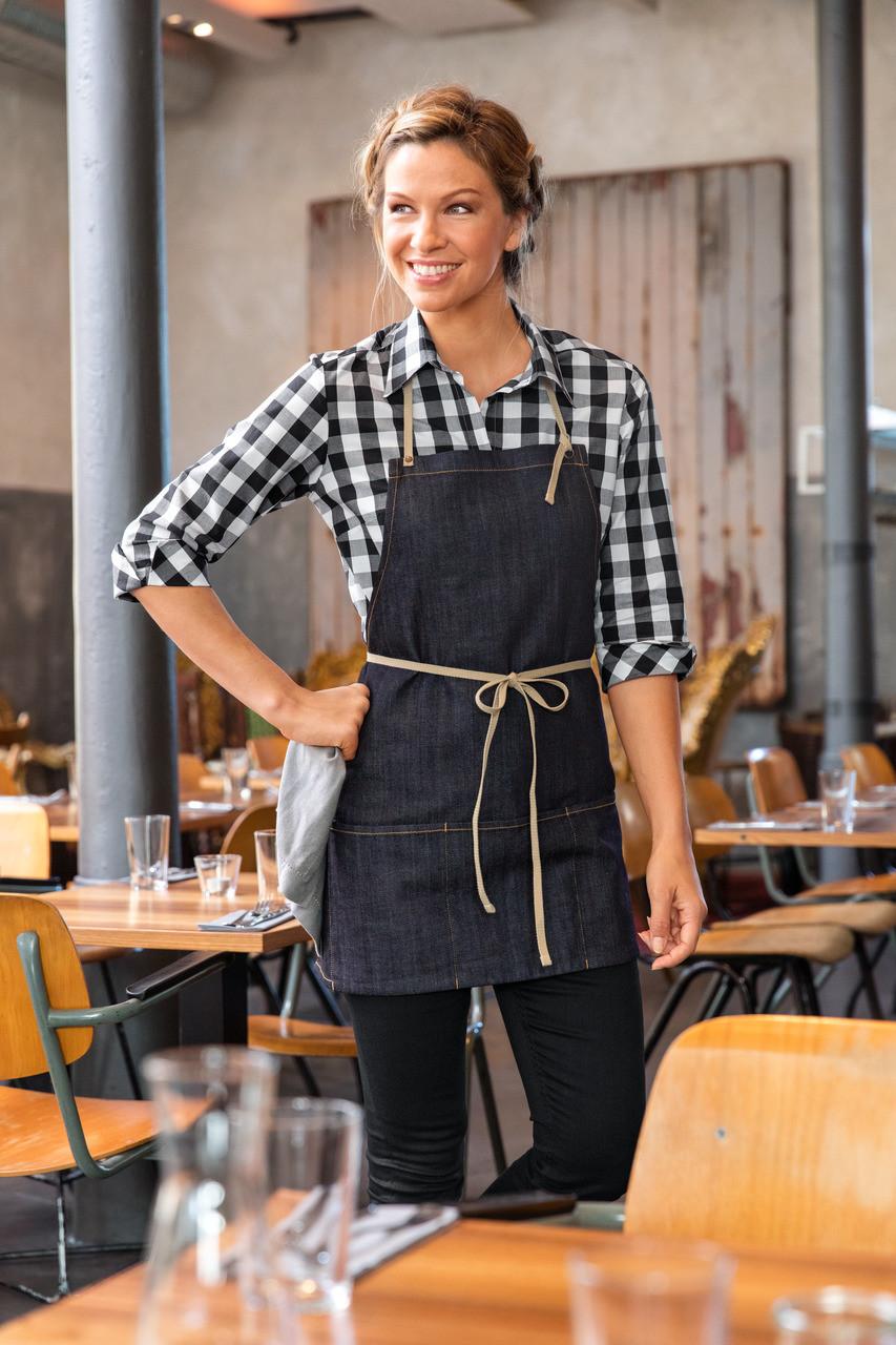 Новинка: Джинсовый фартук для официанта и бармена!
