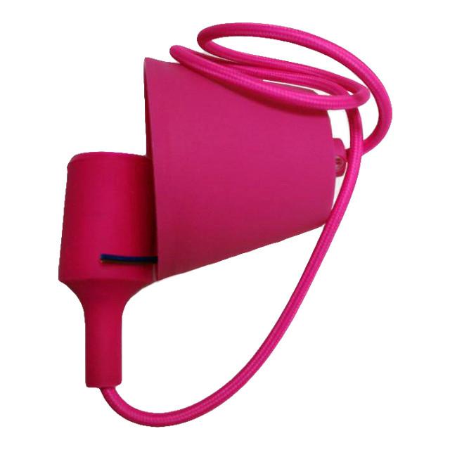 Світильник універ.підвіс.силікон. ART-LOFT E27 ROSE RED (МАЛИНА) (1М+монт.компл.)100шт/ящ ТМ LUMANO