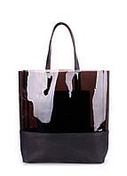 Кожаная сумка Черная Полупрозрачная