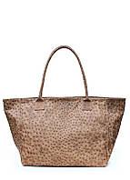 Кожаная сумка Бежевая Страус