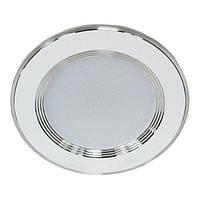 Панель LED downlight 5W 5000K білий з сріблом Premium ТМ LUMANO (24 місяців гарантія)
