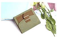 Жіночий гаманець з пряжкою (зелений)
