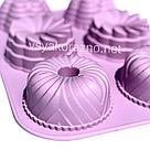 Силиконовая форма для выпечки (Пудинг ассорти), фото 4
