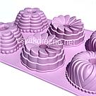 Силиконовая форма для выпечки (Пудинг ассорти), фото 2