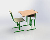 Комплект шкільних меблів №6 регульованих, протискаліозних, одномісних згідно стандартів НУШ