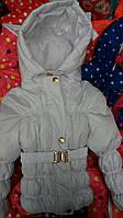 """Белая детская курточка """"Малютка однотонная"""""""