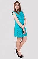 Очаровательное хлопковое  платье на лето с кружевом