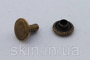 Хольнитен  двухсторонний, диаметр 8 мм, ножка - 8 мм, цвет - антик,  в упаковке - 100 шт., артикул СК 5064