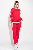 cd8e6dbf Костюм женский спортивный с крупным текстовым принтом на спине 74PD363 ( Красный)