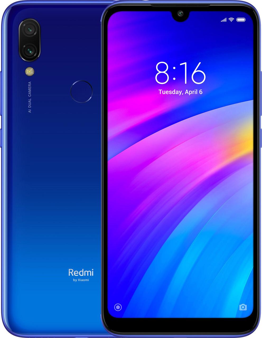 Смартфон Xiaomi Redmi 7 2/16Gb Global Version Оригинал Гарантия 3 месяца Comet Blue