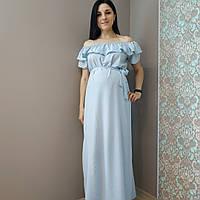 Платье длинное софт для беременных и нет 7030-3, фото 1