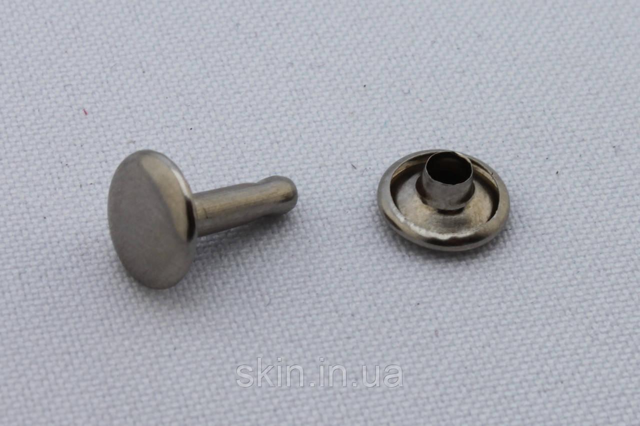 Хольнитен двухсторонний, диаметр 9 мм, ножка - 12 мм, цвет - никель, в упаковке - 100 шт., артикул СК 5148