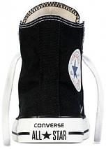 Кеды Converse All Star высокие Replica (реплика) черные New Styles, фото 2