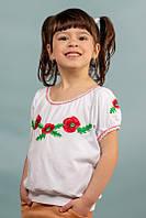 Вышиванка с коротким рукавом для девочек