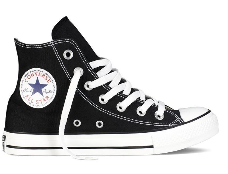 Кеды Converse All Star высокие Replica (реплика) черные New Styles
