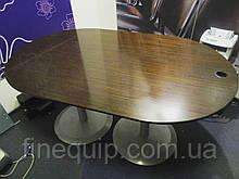 Стол руководителя офисный для переговоров овальный