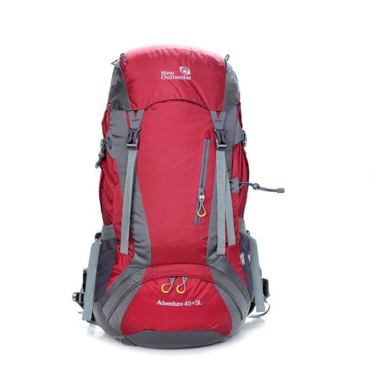 Туристический рюкзак, походный 45-50 л New Outlander 45 +5L,красный(AV 2188)