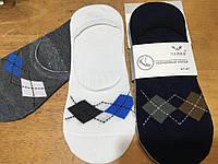 """Хлопковые носки для мужчин оптом """"Ромб"""" следы силикон"""