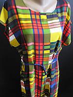Штапельные платья с поясом, фото 1
