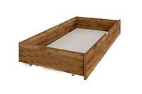 Ящик для кровати Милана дуб крафт белый/серый (Сокме)