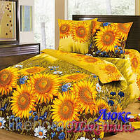 Комплект постельного белья Top Dreams Cotton Подсолнухи семейный