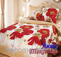 Комплект постельного белья Top Dreams Cotton Летние маки семейный