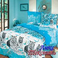 Комплект постельного белья Top Dreams Cotton Зимние тигры семейный