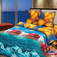 Комплект постельного белья Top Dreams Cotton Паруса любви семейный
