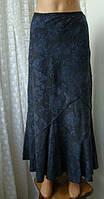 Юбка женская длинная макси весна лето синяя бренд Per Una р.48-50