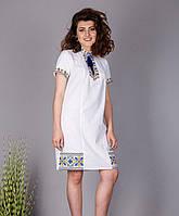 Женское платье- туника с современной вышивкой, фото 1