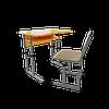 Парта со стулом школьная одноместная с вырезом трансформер 1/1