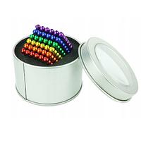 Магнитный конструктор Неокуб (NeoCube) в боксе 216 шариков цветной радуга