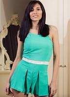 """Летний женский комбинезон-шорты """"Марго"""" с кружевом на поясе (3 цвета)"""