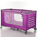 Манеж дитячий EL CAMINO ME 1016 Purple Zigzag, фото 2